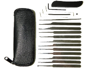 19 Piece Deluxe Lock Picking Set