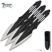 Throwing Knife Set - Thunder Bolt 3 Pc Black Knives