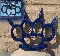Spiked Brass Knuckles - Blue with Removable Spikes