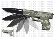 .40 Cal Pistol Assisted Opening Pocket Knife - Digital Camo