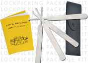 6 Piece Lock Picking Set w/ Case & Instruction Manual