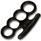 """Godfather"" Brass Knuckles - Black"
