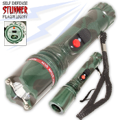 12Million Volt Self Defense Stun Gun LED Flashlight Stungun Camo