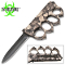 Black Skulls Zombie Slayer Spiked Knuckles Trench Pocket Knife