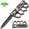 Silver Skulls Zombie Slayer Spiked Knuckles Trench Pocket Knife