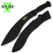 Black Survival Machete Undead Gasher Gurkha Kukri Full Tang