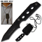 Shadow Ops G10 Handle Military Neck Knife w/ Sheath Full Tang