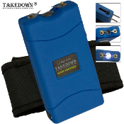25,000,000 Volt Blue Stun Gun Built-In Charger Light & Case