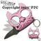 Pink Brutus Self Defense Keychain with Assisted Opening Knife