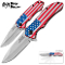 American Pride Flag Assisted Opening Rescue Pocket Knife Set