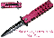 Stiletto Spring Assisted Mock Butterfly Pocket Knife - Pink