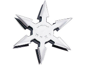 "Ninja Throwing Star - 4"" Black 6 Point & Case"