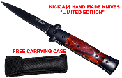 """Kick A$$"" Spring Assisted Opening Pocket Knife - Brown"