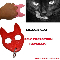 Black Cat Self Defense Keychain Hand Weapon - Red