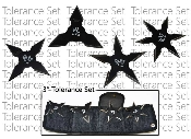 "Throwing Stars - 4pc Black ""Tolerance"" Throwing Star Set & Case"