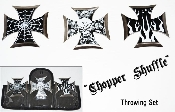 "Throwing Stars - 3pc ""Choppers"" Throwing Star Set & Case"