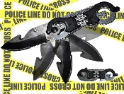 """Police Handcuffs"" Pocket Knife Spring Assisted Opening"