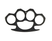 Full Size Heavyweight Brass Knuckles - Black