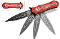 RED Haunted Skull Assisted Spring Opening Pocket Knife
