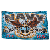 "Military Indoor Outdoor Flags - Navy ""Defending Freedom"" Flag"
