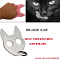 Black Cat Self Defense Keychain Hand Weapon - Purple