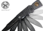 Black SNIPER AK47 Spring Assisted Opening Pocket Knife