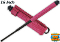 "Pink 16"" Self Defense Baton with Belt Holster"