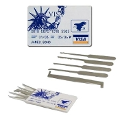"Credit Card Lock Picking Set ""James Bond"""