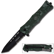 Digital Camo ARMY Tanto Blade Special Ops Pocket Knife Assisted