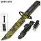 AR15 AR-15 Rifle Bayonet Knife Shadow Ops Green Skulls w/ Sheath