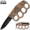 """Matrix"" Spring Assisted Trench Knife & Knuckles - Desert Camo"