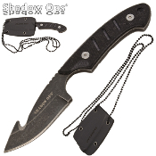 Shadow Ops Guthook Blade G10 Handle Military Neck Knife & Sheath