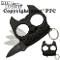 Black Brutus Self Defense Keychain with Assisted Opening Knife