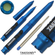Tactical Pen Takedown Self Defense Weapon BLUE