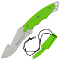 Shadow Ops Neck Knife - Gut Hook Fixed Blade Green with Sheath