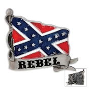Rebel Confederate Flag CSA Belt Buckle